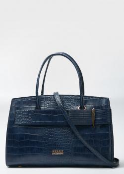 Синяя сумка Ferre Collezioni с тиснением кроко, фото