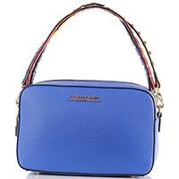 Маленькая синяя сумка Ermanno Scervino прямоугольной формы, фото