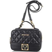 Стеганная прямоугольная сумка Love Moschino черного цвета, фото