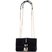 Черная лаковая сумка Patrizia Pepe, фото