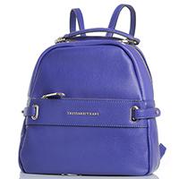 Рюкзак Trussardi Jeans из зернистой кожи синего цвета, фото