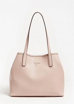 Розовая сумка Guess Vikky с косметичкой, фото
