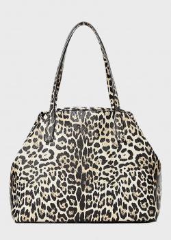 Сумка с косметичкой Guess Vikky с леопардовым принтом, фото