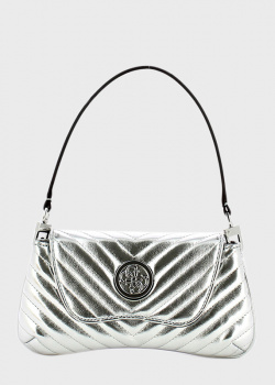 Серебристая сумка-седло Guess Blakely со съемным ремнем, фото