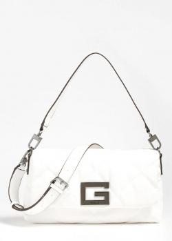 Стеганая сумка Guess Brightside белого цвета, фото