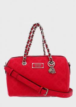 Красная сумка Guess Logo Lova с логотипом, фото
