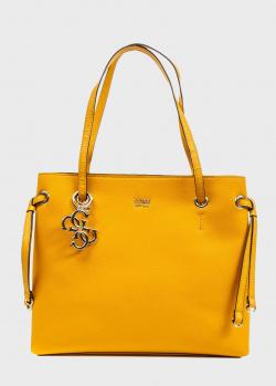 Желтая сумка-тоут Guess Digital из экокожи, фото