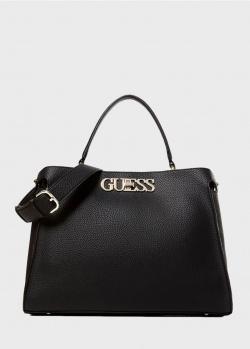 Черная сумка Guess Uptown Chic с логотипом, фото