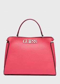Розовая сумка Guess Uptown Chic из экокожи, фото