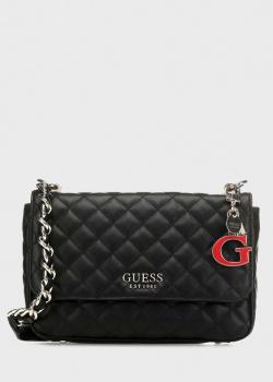 Черная сумка Guess Melise с брелком, фото