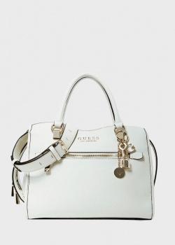 Белая сумка Guess Lias из экокожи, фото