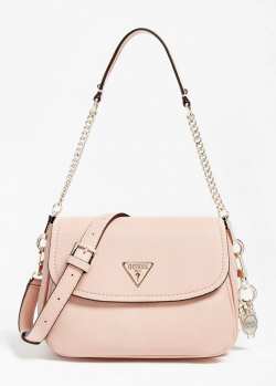 Розовая сумка кросс-боди Guess Destiny с цепочкой, фото