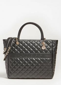 Черная сумка-тоут Guess Illy с логотипом, фото