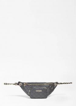 Поясная сумка Guess Illy черного цвета, фото