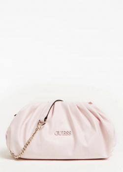 Розовый клатч Guess Central City с цепочкой, фото