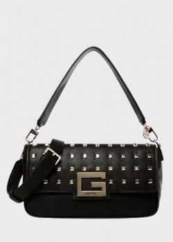 Черная сумка-багет Guess Brightside со съемным ремнем, фото