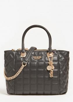 Стеганая сумка-тоут Guess Kamina с логотипом, фото