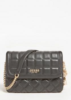 Стеганая сумка Guess Kamina черного цвета, фото