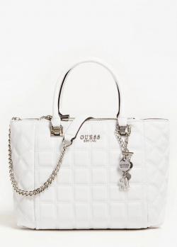 Стеганая сумка Guess Kamina белого цвета, фото