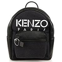 Черный рюкзак Kenzo Kombo с карманом на молнии, фото