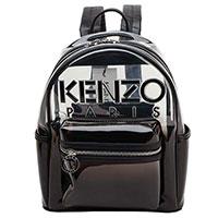 Рюкзак Kenzo прозрачный черного цвета, фото