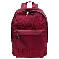 Бордовый рюкзак Kenzo с вышивкой в виде тигра, фото