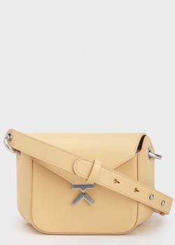 Бежевая сумка Kenzo из гладкой кожи, фото