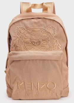 Бежевый рюкзак Kenzo с фирменной вышивкой, фото