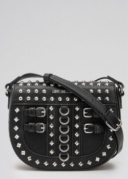 Маленькая сумка Love Moschino с декором-заклепками, фото