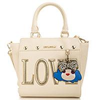 Белая сумка Love Moschino с золотистой фурнитурой, фото