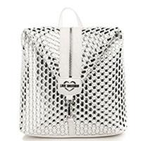 Белый рюкзак Love Moschino с серебристыми вставками, фото