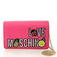 Розовая сумка Love Moschino с аппликацией из пайеток, фото