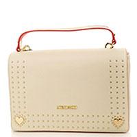 Бежевая сумка Love Moschino прямоугольной формы, фото
