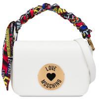 Белая сумка Love Moschino с логотипом, фото