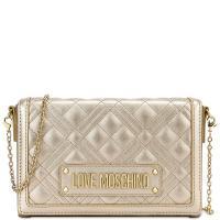 Стеганная сумка Love Moschino золотого цвета, фото