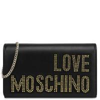 Черная сумка Love Moschino с декором-стразами, фото