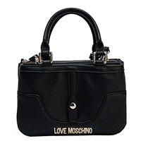 Черная сумка Love Moschino с логотипом, фото