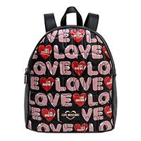 Черный рюкзак Love Moschino с принтом, фото