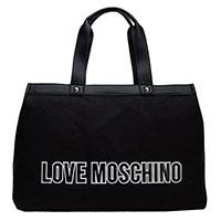 Черная сумка Love Moschino с крупным логотипом, фото