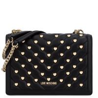 Черная сумка Love Moschino на цепочке, фото