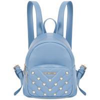 Голубой рюкзак Love Moschino с декором в виде сердец, фото