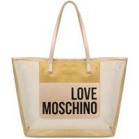 Шоппер Love Moschino в золотом цвете, фото