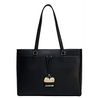 Черная сумка Love Moschino с декором в виде сердца, фото