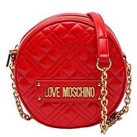 Женская круглая сумка Love Moschino в красном цвете, фото