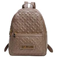 Бежевый рюкзак Love Moschino со строчкой, фото