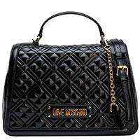 Женская черная сумка Love Moschino на цепочке, фото