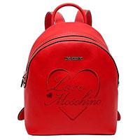 Рюкзак красного цвета Love Moschino с логотипом, фото