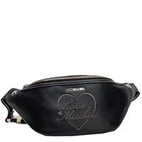 Поясная сумка Love Moschino с надписью бренда, фото