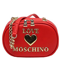Женская сумка Love Moschino красного цвета на цепочке, фото