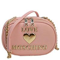 Розовая сумка Love Moschino на цепочке, фото